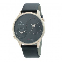 Daniel Klein Dual Time Black Leather Strap DK.1.12327-3